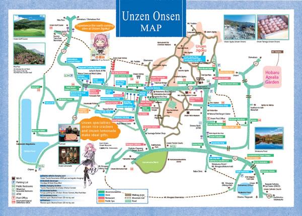 Unzen Onsen MAP